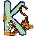 Tiger Alphabet Letter K