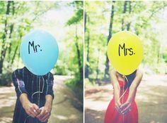 Más cositas sencillas que pueden enriquecer las fotos! globos de helio con mensajitos escritos!