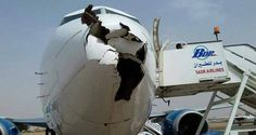 The damage to the nose Bdr 735 Aviation Accidents, Bird Strike, Big Horn Sheep, Commercial Aircraft, Civil Aviation, Fighter Jets, Airplanes, Scrap, Ships