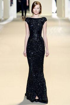 Elie Saab sparkly long black dress