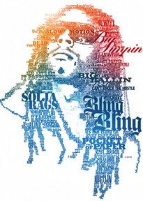 Typographic Portrait Make a Typographic Portrait from a Photograph you have taken of somebody. Typography is the Art of designing with and arranging Words (type/typography). A Typographic Portrait. Tachisme, Black Power, Illustration Techniques, Illustration Art, Typography Portrait, Pop Art, Graffiti, Face Images, Cool Sketches