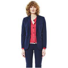 Dagmar Jackie Blazer ($349) ❤ liked on Polyvore featuring outerwear, jackets, blazers, navy blue, blue blazers, blazer jacket, blue blazer jacket, dagmar and navy jacket