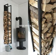 You want to build a outdoor firewood rack? Here is a some firewood storage and creative firewood rack ideas for outdoors. Lots of great building tutorials and DIY-friendly inspirations! Indoor Firewood Rack, Firewood Holder, Firewood Storage, Casas Containers, Wood Burner, Into The Woods, Storage Design, Storage Ideas, Rustic Wood
