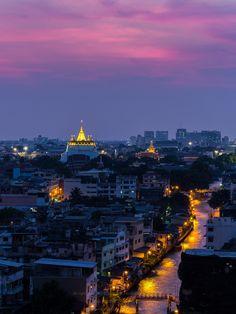 The Golden Mountain Pagoda - Bangkok, Thailand