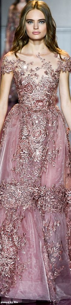 Pinky Pleasures With Zuhair Murad Fall/Winter 2016-17 Couture l Ria