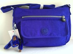 KIPLING Syro Crossbody Shoulder Bag NEW Sapphire Blue Nylon HB3819 Pockets NIP #Kipling #ShoulderToteBag