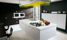Kitchen, New Modern Kitchen31 Wooden Floor Kitchen Island Ceiling Lamp Blck Table And Chair Modern Design Kitchen: 25 Modern Kitchen Designs...