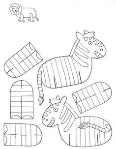 Animals to Print and Assemble Print these beautiful animals for the kids with . Cardboard Animals, Paper Animals, Zoo Animals, Sunday School Crafts, School Fun, Animal Crafts For Kids, Art For Kids, Children Crafts, Paper Toys