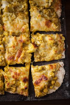 {Happy Weekend, eat pizza.} Curried Cauliflower Pizza  Print Prep time 15 mins Cook time 45 mins Total time 1 hour  Author: Erin Alderson Recipe type: Dinner Serves: 3-4 Ingredients Dough: ¾ cup warm water 2½ teaspoon yeast ¼ cup honey 2 tablespoons olive oil ½ teaspoons salt 1½- 2 cups whole wheat pastry [...]