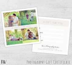 Save the date template for photographers gold save by salsaldesign photography gift certificate spring photoshop template photographer photography gift card template yadclub Images