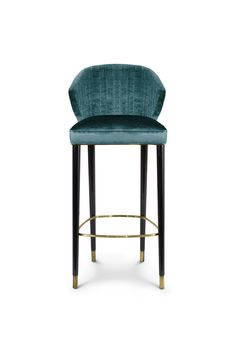 Nuka is a glacier in Alaska known for its sublime beauty. NUKA Bar Chair came to life inspired by this magnificent natural monument. Upholstered in velvet and legs in glossy black lacquered, this occasional chair with a curved back will make any bar design.