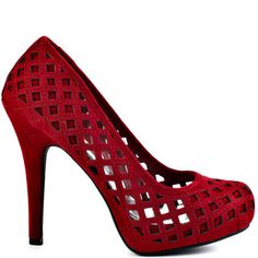 You'll love the lattice look of this sultry style by Just Fabulous.  Bevin brings you a red fabric upper with perforations through out the entire silhouette.  A 5 inch heel and 3/4 inch platform brings this style to life.