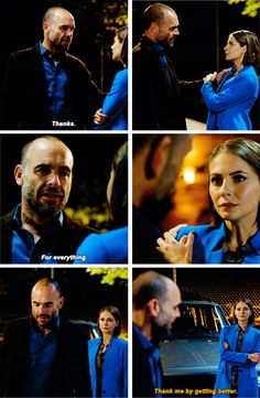 """""""Thank me by getting better"""" - Thea and Quentin #Arrow"""