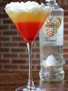If you haven't yet gotten your full fix, this super-sweet combo of whipped cream vodka, sour mix, pineapple juice, grenadine, oh, and more whipped cream is, in one word, magic. Get the recipe at Tammilee Tips.     - ELLEDecor.com