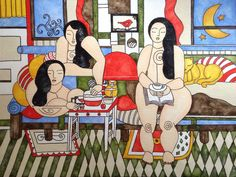 3 Fat Chicks/Life is Sublime -  Art by Kim Wilkowich