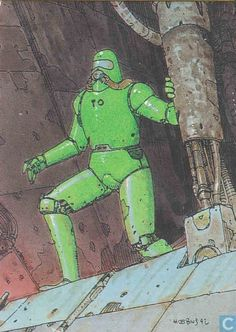 Trading cards - Moebius (collector cards) - The Denebian