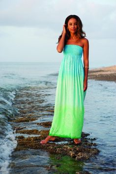 Cool Change Rajasthan Strapless maxi dress in seaglass