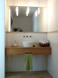 Waschtisch Gäste WC Eiche