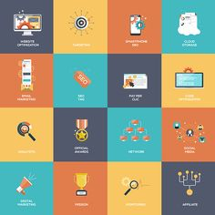 Set of Flat Design Concept Icons on Behance