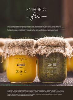 Projeto de identidade visual das embalagens da empresa EMPÓRIO FIT. Spices Packaging, Organic Packaging, Honey Packaging, Glass Packaging, Cookie Packaging, Food Packaging Design, Packaging Design Inspiration, Brand Packaging, Design Poster