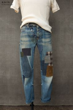 Patch Jeans, Replay Jeans, Mode Jeans, Patchwork Jeans, Boro, School Outfits, Thighs, Patches, Skinny Jeans