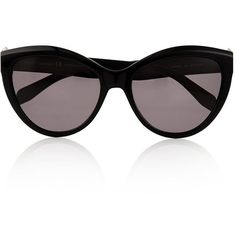 Alexander Mcqueen Sunglasses Pierced Cat Eye Sunglasses ($315) ❤ liked on Polyvore featuring accessories, eyewear, sunglasses, black, cat-eye glasses, acetate sunglasses, embellished cat eye sunglasses, cateye sunglasses and acetate glasses