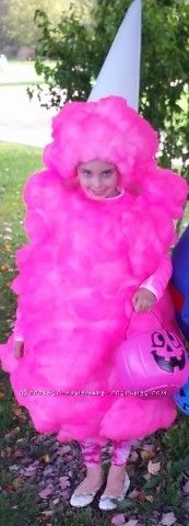 This is my 7 year old daughter she wanted to be her favorite treat for our Halloween day at our campground so I hand made this Pink Cotton Candy cos...
