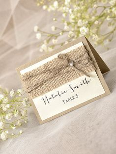Rustic Place Cards 20 Lace Place cards Grey by forlovepolkadots