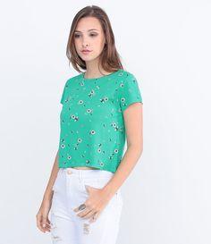 Blusa Feminina em Cropped com Estampa - Lojas Renner