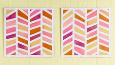 DIY herringbone wall art panels