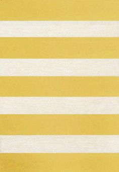 Trans Ocean Positano Rugby Stripe Yellow 121309 Area Rug   Bold Rugs