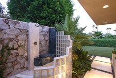 Fabulous Outdoor Shower - Repinned by Anna Marie Fanelli - www.annamariefanelli.com