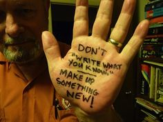"""Don't 'write what you know.' Make up something new!"" - Joe Haldeman advice on #writing. #quotes"