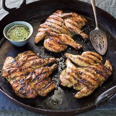 Here's a creative way to use zesty chimichurri sauce in an impressive and unexpected presentation. Cornish hens are flattened and cooked under the pressure of ... read more