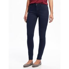 Old Navy Womens Mid Rise Rockstar Skinny Jeans ($35) ❤ liked on Polyvore featuring jeans, iverness, petite, white skinny jeans, old navy skinny jeans, denim skinny jeans, skinny leg jeans and stretch denim jeans