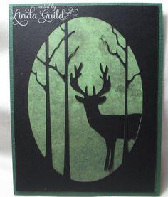 Nothin' Fancy: Deer Silhouette Cards -- 30 Minute Card