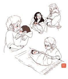 Fili finally meets his new baby brother and he does not like him. Dis' husband (Vili) is slightly concerned with his son's behavior, but Dis reassures him that this is perfectly normal for a sibling to be jealous of a new baby. She tells him Frerin...