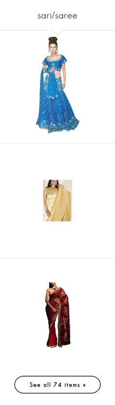 """""""sari/saree"""" by rhianna1996 ❤ liked on Polyvore featuring saree, dresses, green dress, accessories, tops, blouses, bride top, grey blouse, indian blouse and bridal tops"""
