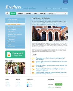 Brothers Private Website Templates by Sawyer
