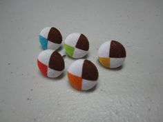 Fabric Cover Button Pushpin Thumbtacks  Bold by adrisadorables, $4.95