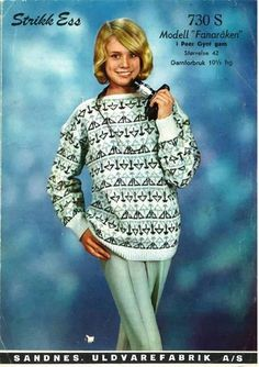 fanaråken Arne And Carlos, Sweater Knitting Patterns, Hand Knitting, Vintage Knitting, Color Combinations, Knitwear, Graphic Sweatshirt, Sweatshirts, Crochet