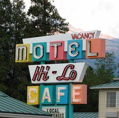 Hi - Lo Motel & Cafe - Weed, California by Vintage Roadside, via Flickr