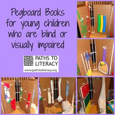 pegboard books for young children who are blind or visually impaired