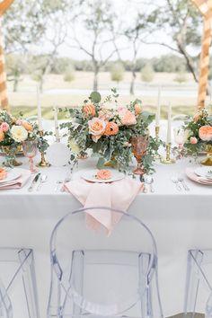 PEACH THEMED SUMMER WEDDING | Bespoke-Bride: Wedding Blog Macaroon Wedding Cakes, Summer Wedding, Wedding Day, Pink Cups, Balloon Arch, Invitation Design, Wedding Blog, Perfect Wedding, Wedding Colors