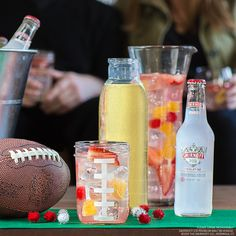 Big Game Sangria. Rally your crew with a pitcher of Smirnoff ICE Big Game Sangria. It's easier to make than a locker room speech. And way tastier, too.  Just mix 2 cups Smirnoff ICE Original and 2 cups Pinot Grigio, and enjoy with 3 of your friends! #EasyDrinks #SmirnoffICE #Sangria #BigGame #Football