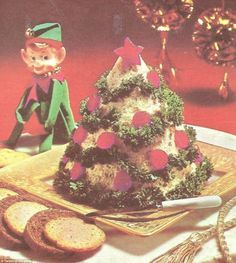 70s Dinner Party (@70s_party ) offers an antidote to all the 'smug' Instagram snaps, pictured,parsley pâté shaped like a Christmas tree
