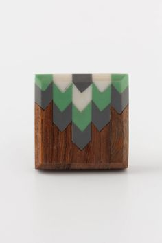 way too cute to be a knob! Feather Inlaid Knob #anthropologie