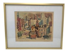 Shop original prints at Chairish, the design lover's marketplace for the best vintage and used furniture, decor and art. Ceiling Decor, Bedroom Ceiling, Vintage Architecture, Mid Century Modern Decor, Modern Materials, Mid-century Modern, Vintage World Maps, San Francisco, Prints