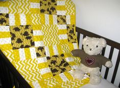 The Golden Age of Dinosaurs - a handmade baby quilt for sale for boys.