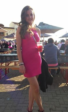 GLAM girls spotted at the Pink Punter event Glam Girl, South Africa, Bodycon Dress, Glamour, Fitness, Girls, Pink, Outfits, Dresses